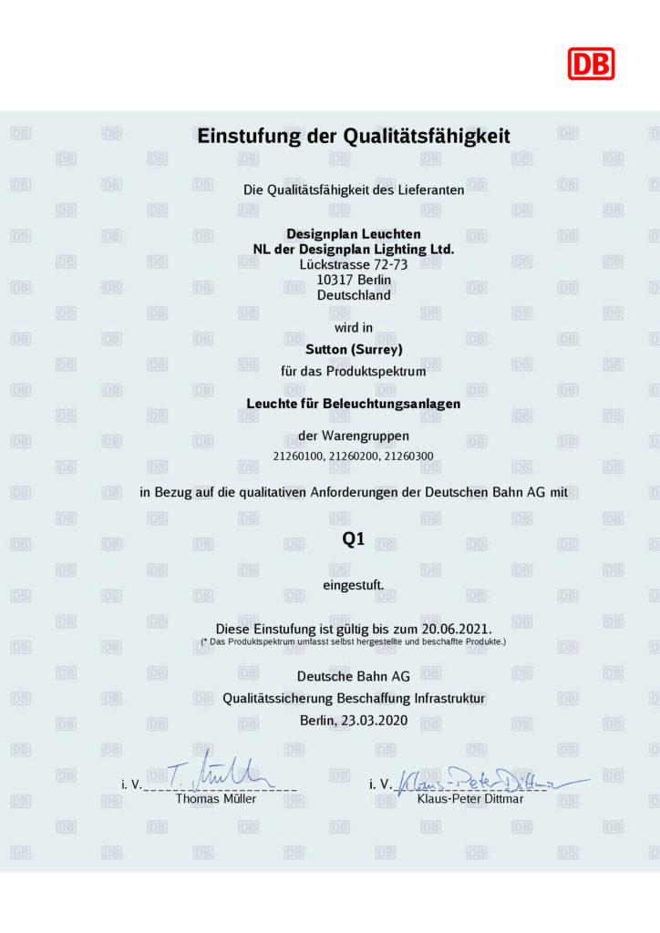 Wir wurden getestet und erneut von der Deutschen Bahn zertifiziert.