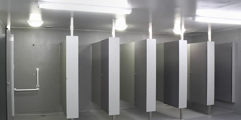 Haftduschen, Bleuchtung für Gefängnis duschen