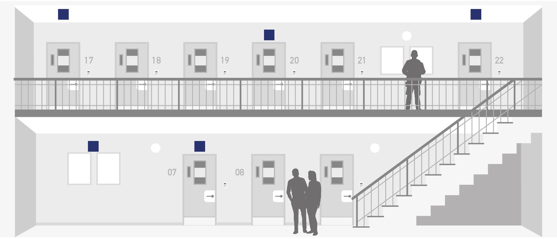 Haft und Gewahrsam Licht für Flure und Aufenthalsbereiche