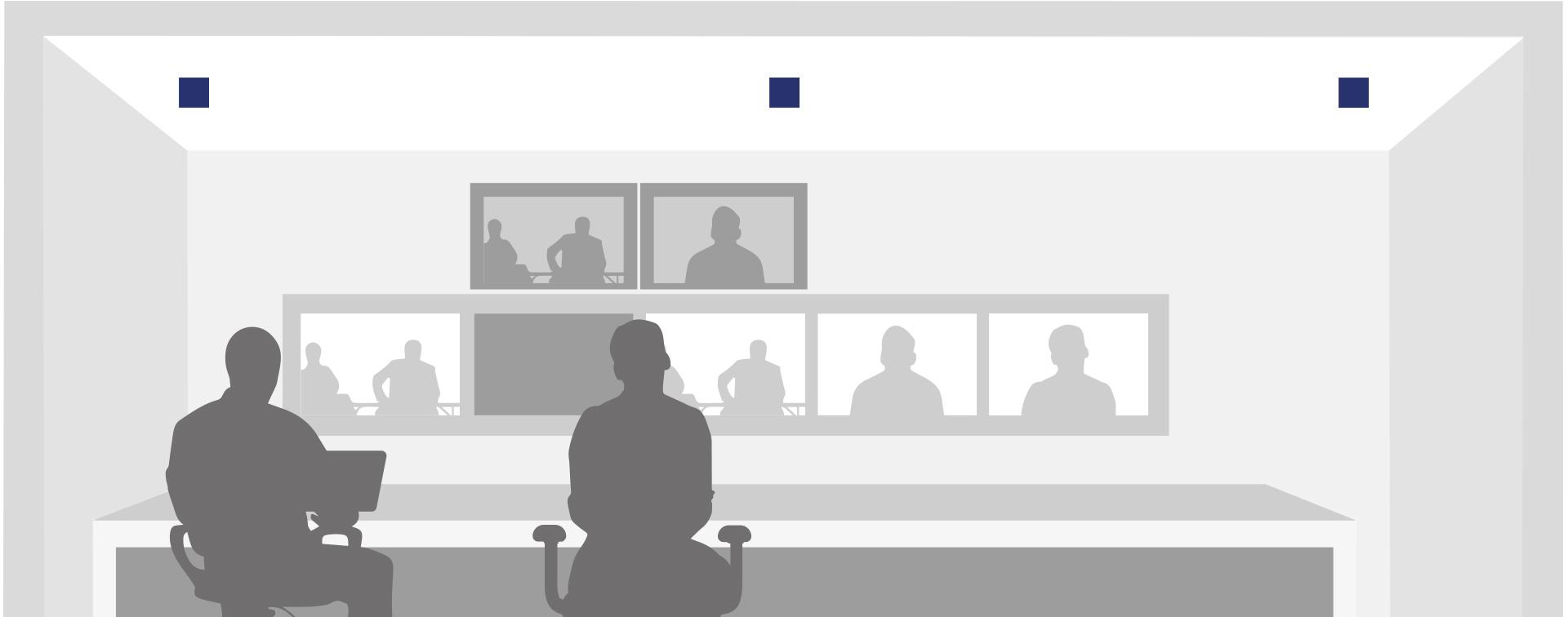 Leuchten für Videokonferenzen in Gefängnissen