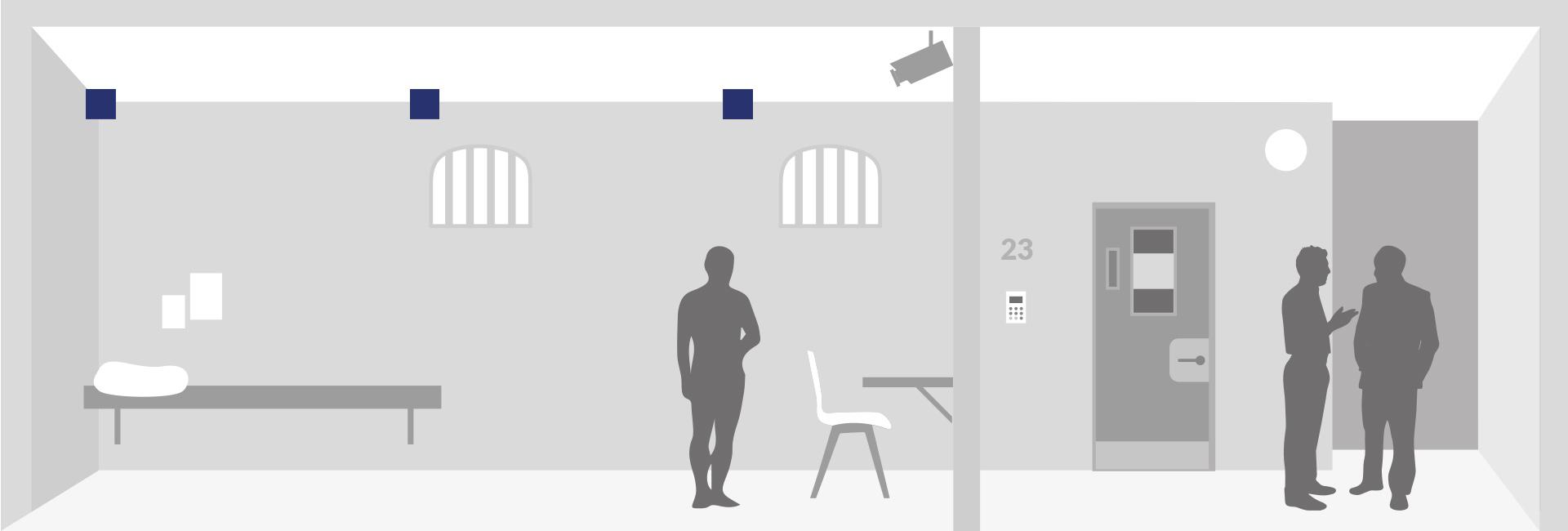 Haft Leuchten für videoüberwachte Hefträume Zellen