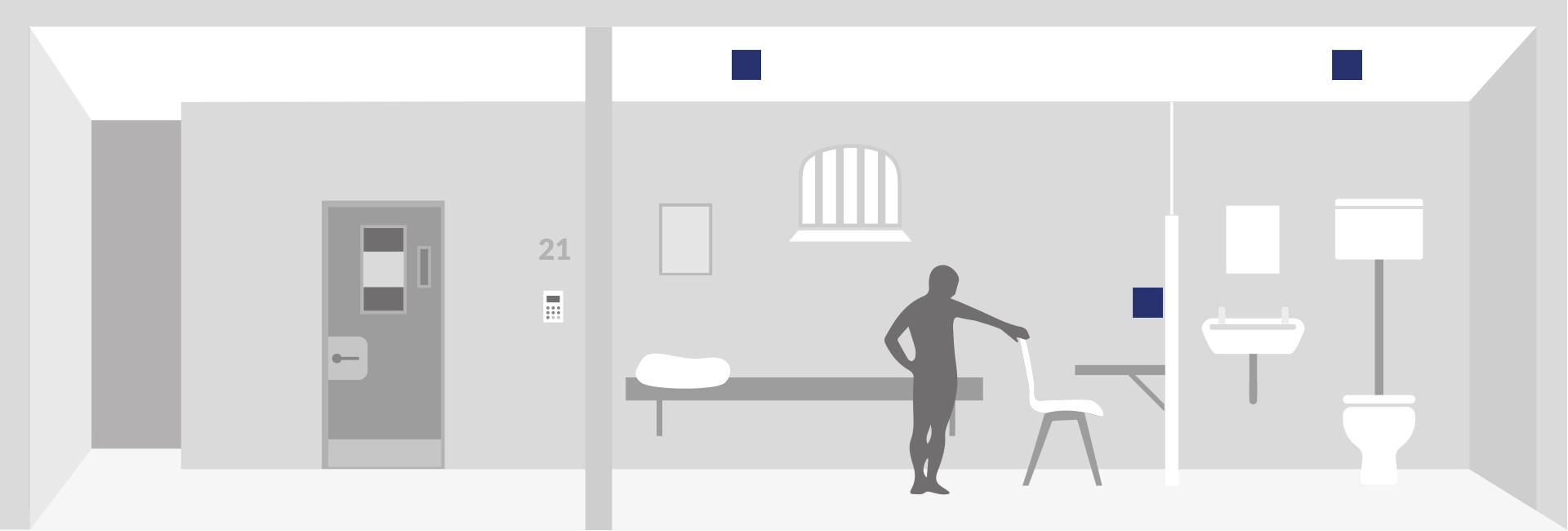 Leuchten für Standard Hafträume Zellen