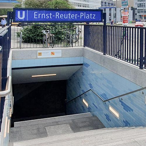 Designplan Ernst Reuter Platz B-Bahn Licht Leuchten Anti-Graffiti