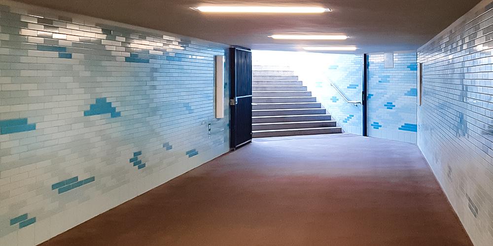 Unterführungen Designplan Ernst Reuter Platz B-Bahn Licht Leuchten Anti-Graffiti